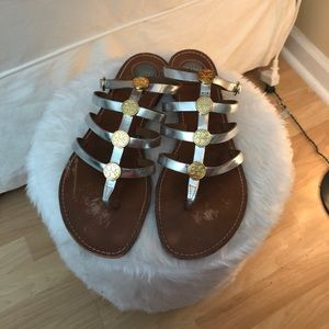 🎈SOLD🎈🎈Tory Burch Metallic Gladiator Sandals